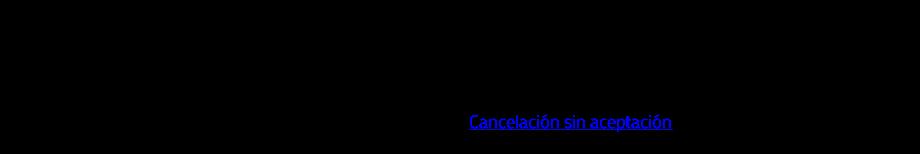 Si el receptor acepta la cancelación, se deberá repetir el proceso de solicitud para el documento origen. Excepciones: Si el documento relacionado forma parte de los escenarios de Cancelación sin aceptación del receptor, entonces se podrá cancelar el documento relacionado sin enviar petición al receptor.